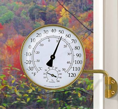 Conant  Vermont Collection Weather Station (Living Finish Brass)